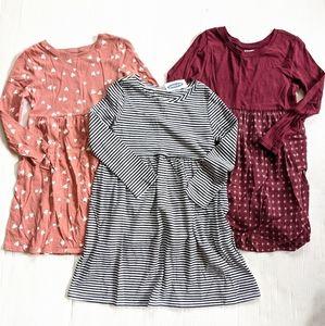 OLD NAVY toddler girl 5t t-shirt dresses bundle